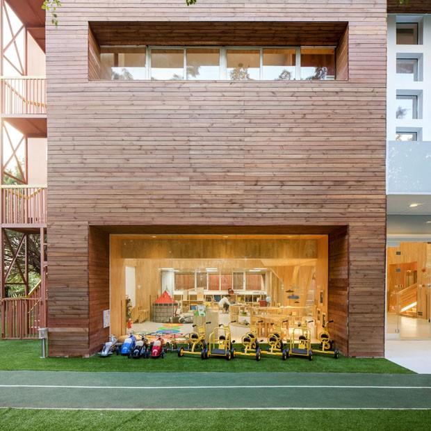 Estilo montessoriano dita decoração de pré-escola dos sonhos (Foto: Kevin Ho, VMDPE Design)