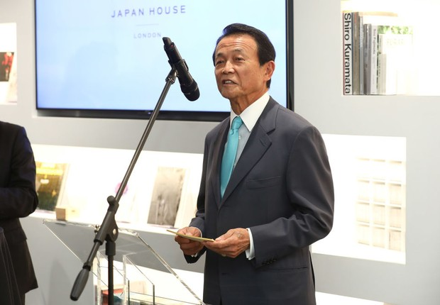 Taro Aso, ministro das finanças do Japão (Foto: Tim P. Whitby - WPA Pool/Getty Images)