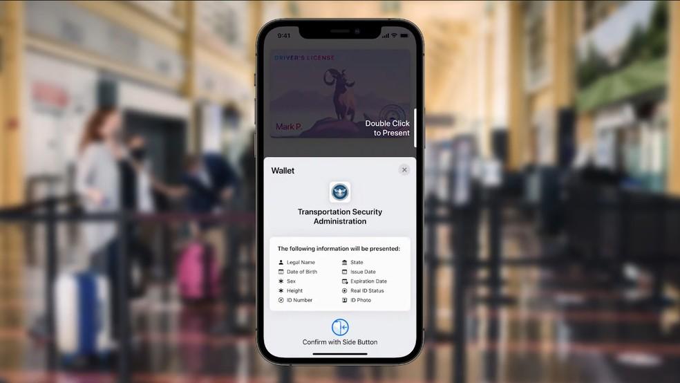 iOS 15: Wallet ganha opção de salvar chaves — Foto: Reprodução/Apple