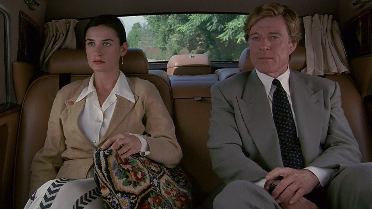 A atriz Demi Moore e o ator Robert Redford em cena de Proposta Indecente (1993) (Foto: Reprodução)