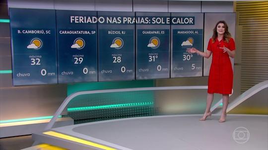 Veja como fica o tempo, em todo o Brasil, nesta véspera do feriado de 12 de outubro