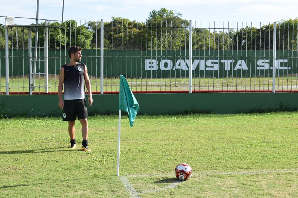 Fellype Gabriel jogará mais uma temporada pelo Boavista (Foto: Gustavo Garcia/GloboEsporte.com)