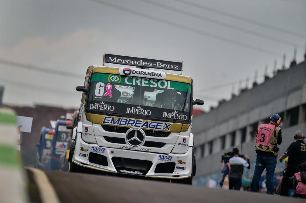 Boxes do autódromo terão controle rígido de acesso, sem imprensa e com poucos mecânicos — Foto: Duda Bairros/Copa Truck