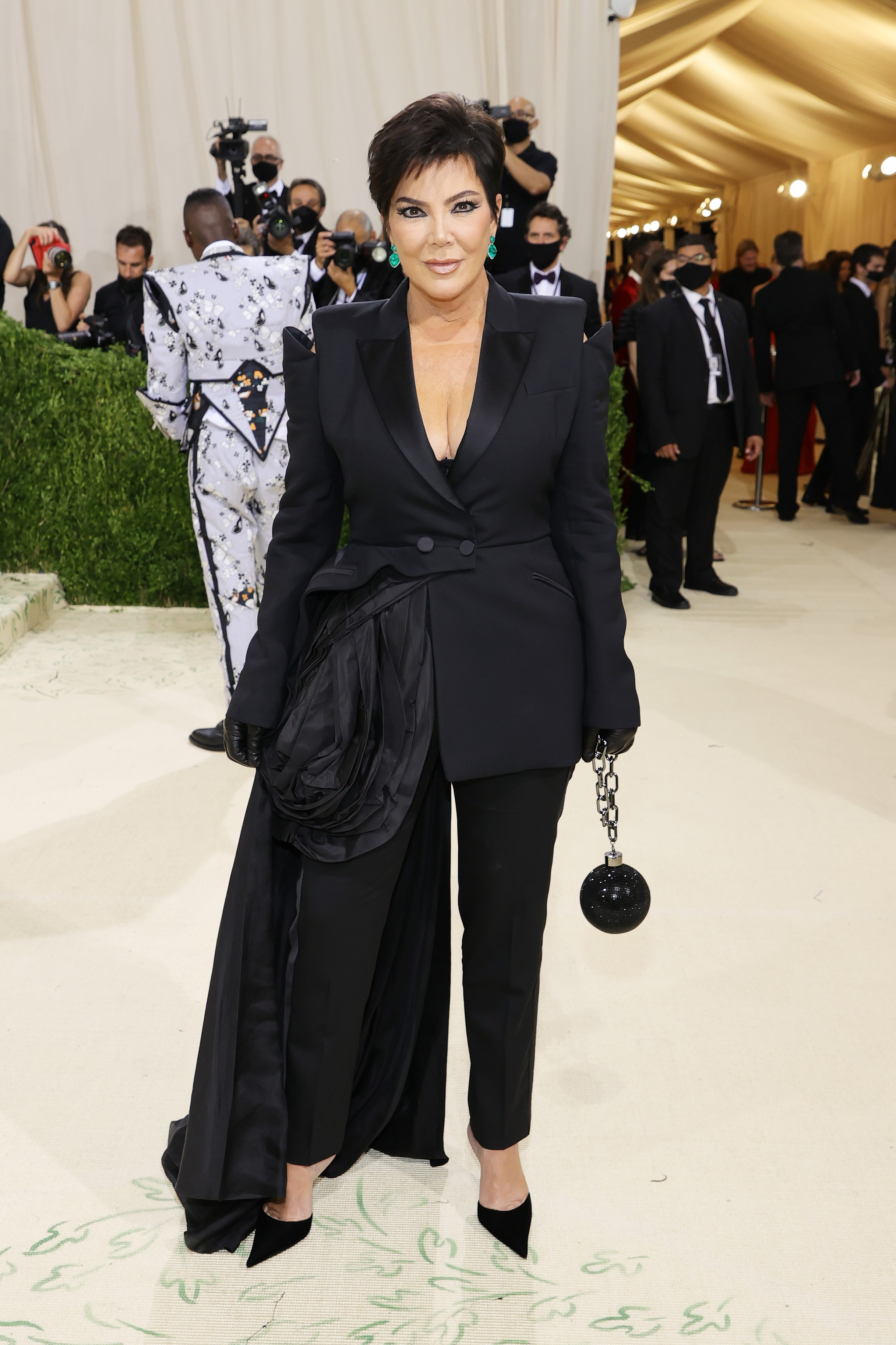 NEW YORK, NEW YORK - SEPTEMBER 13: Kris Jenner attends The 2021 Met Gala Celebrating In America: A Lexicon Of Fashion at Metropolitan Museum of Art on September 13, 2021 in New York City. (Photo by Mike Coppola/Getty Images) (Foto: Getty Images)