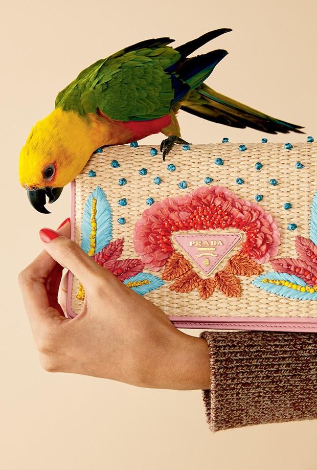 Bolsa Prada (R$ 7.850) e tricô Gucci (R$ 7.400 (Foto: Mariana Marão)