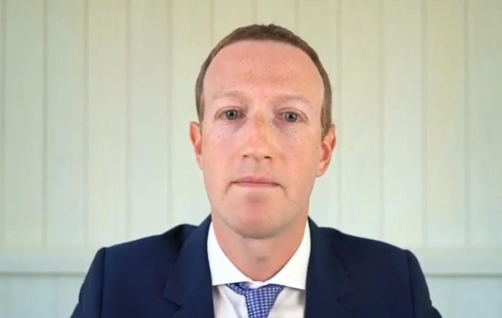 Mark Zuckerberg, presidente do Facebook — Foto: Reprodução