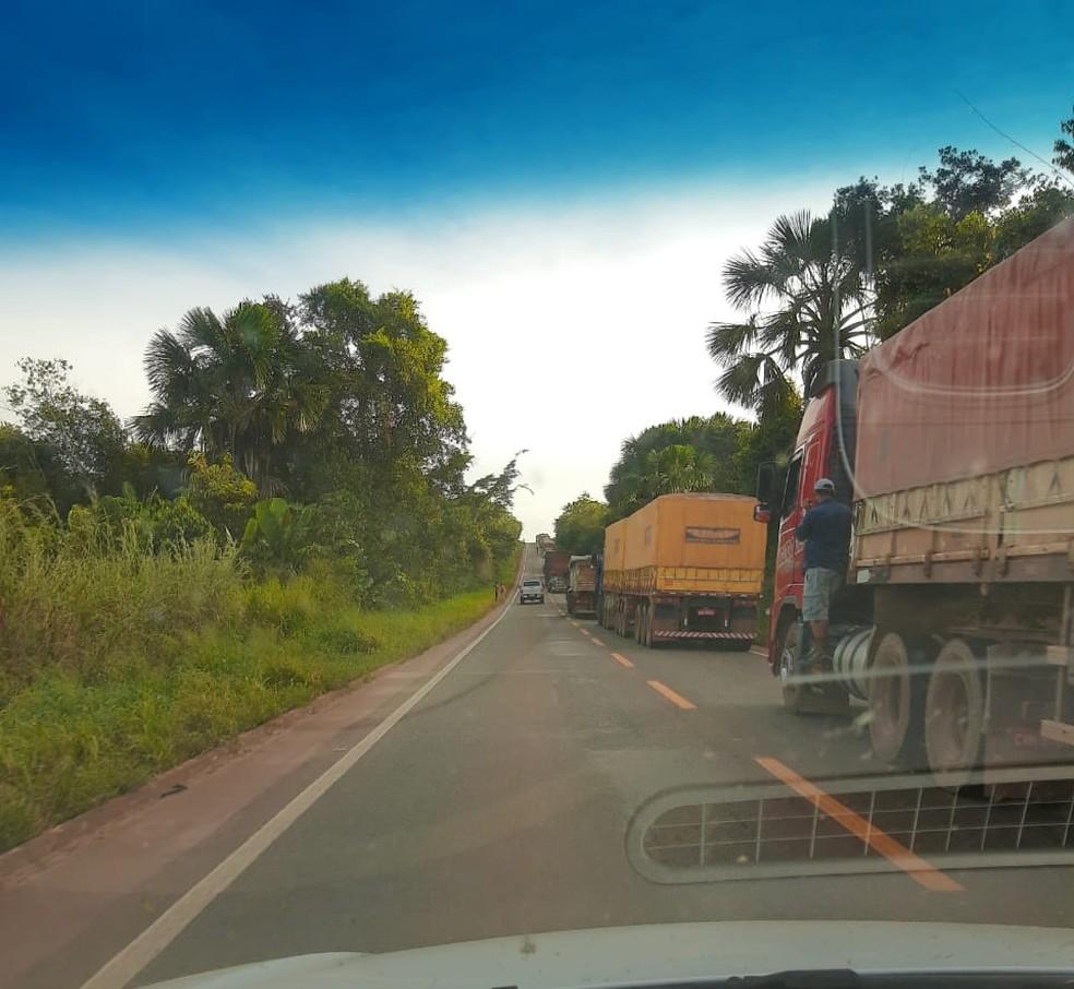 Trânsito ficou comprometido na região — Foto: Divulgação