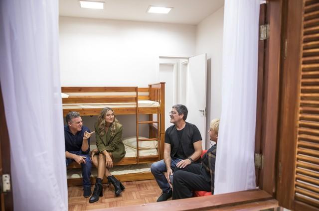 Junno Andrade, Xuxa, Luciano Huck e Sasha no 'Caldeirão' (Foto: João Miguel Júnior/Globo)