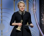 Elisabeth Moss no Globo de Ouro | Handout/Reuters