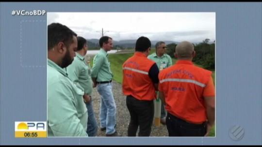 Defesa Civil realiza vistoria em barragem de mina no sudeste do Pará