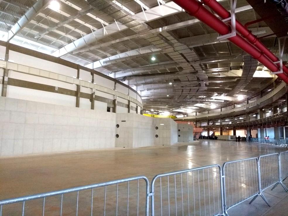 Área interna do superlaboratório Sirius, no CNPEM, em Campinas — Foto: Fernando Evans/G1