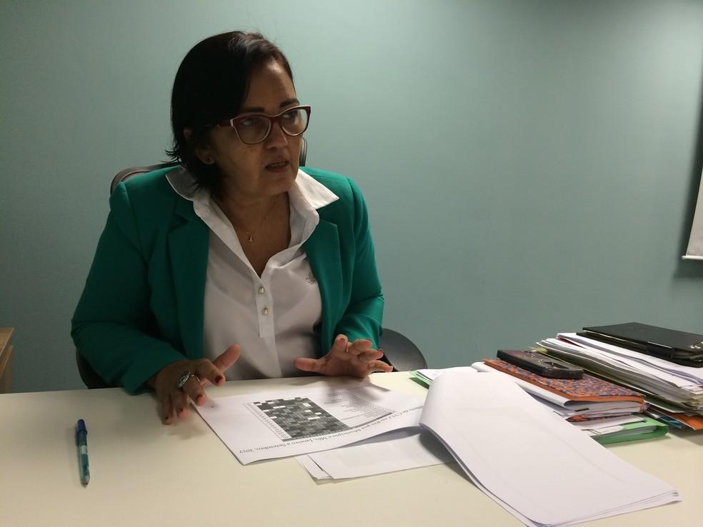 Sheila Freitas, secretária de Segurança do RN (Foto: Igor Jácome/ G1)