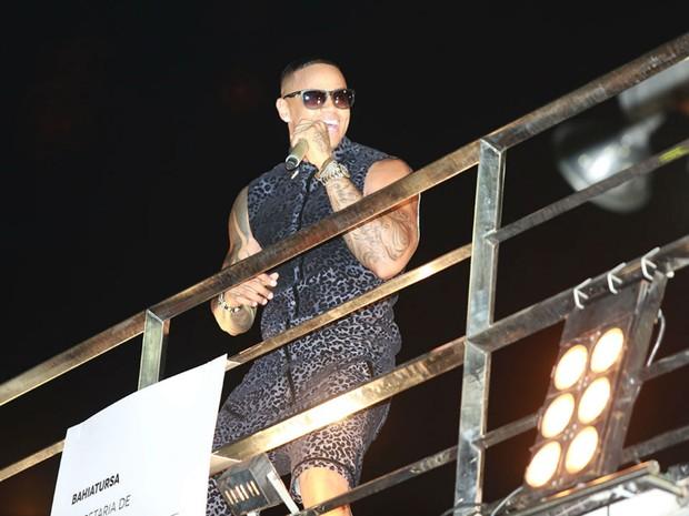 Léo Santana no carnaval de Salvador (Foto: Mauro Zaniboni /Ag Haack)
