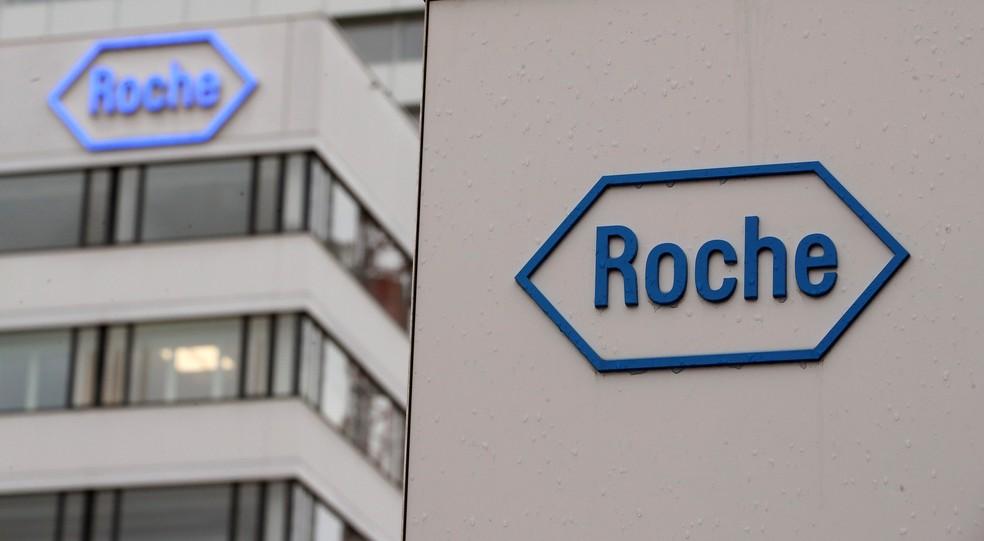 Sede da farmacêutica Roche na Suiça — Foto: Reuters