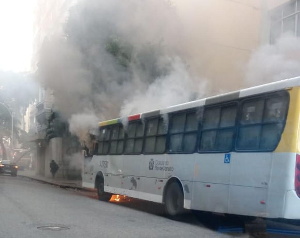 Não houve feridos no incêndio — Foto: Reprodução/Redes sociais