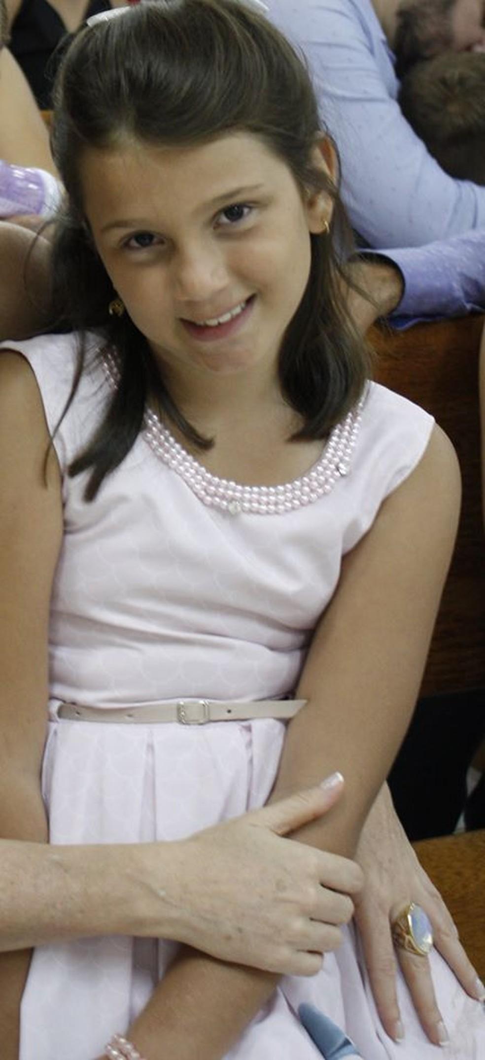 Nagila Vitória Boroviec Scheuermann, de 8 anos, morreu em Colniza — Foto: Facebook/Reprodução