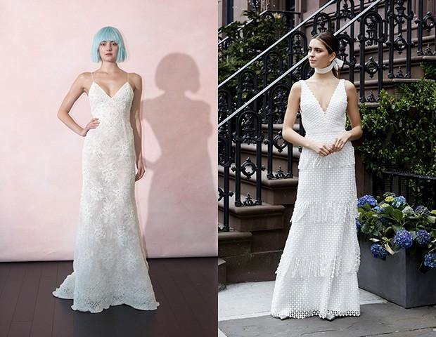 Vestido de noiva Isabelle Armstrong e Lela Rose (Foto: Imaxtree)