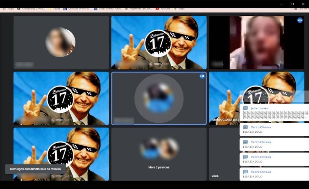 Sistema foi invadido por usuários que usavam imagem do presidente Jair Bolsonaro — Foto: Divulgação