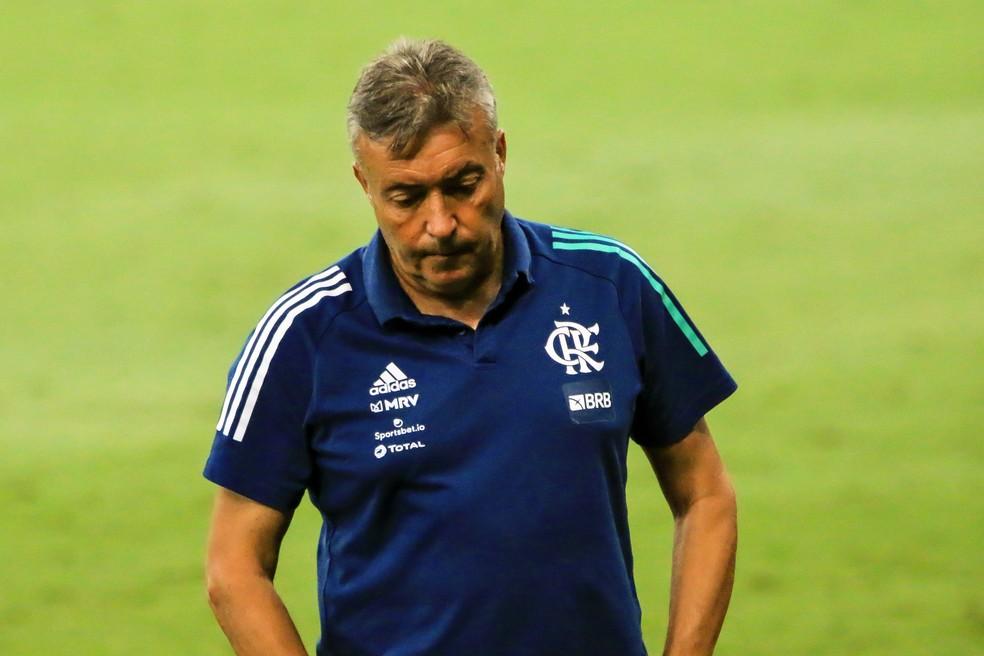 Domènec Torrent não é mais técnico do Flamengo — Foto: Domenec Flamengo Atlético-MG Mineirão