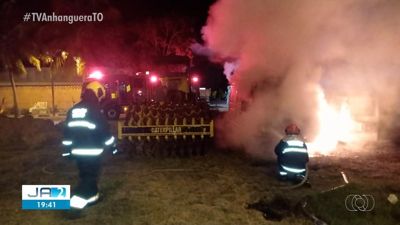 Incêndio atinge parte da secretaria de infraestrutura de Gurupi, no sul do Tocantins