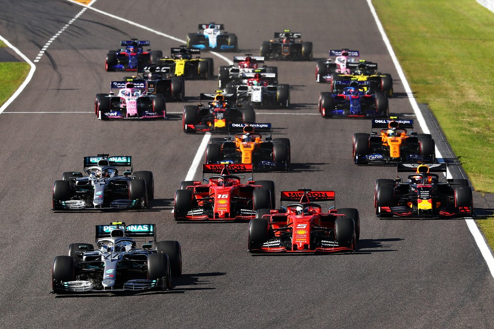 Largada do GP do Japão, em Suzuka — Foto: Getty Images