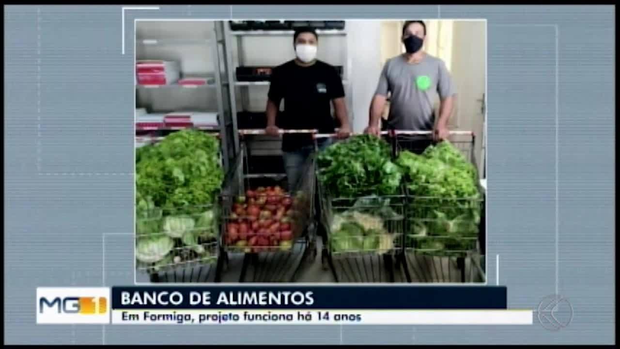 Bancos de alimentos em Formiga e Divinópolis doam toneladas de alimentos