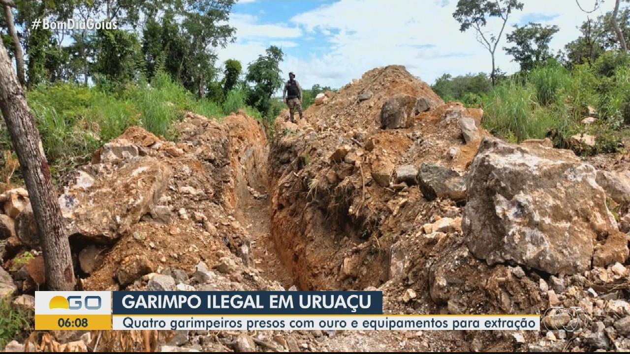 Quatro são presos suspeitos de garimpo ilegal em Uruaçu