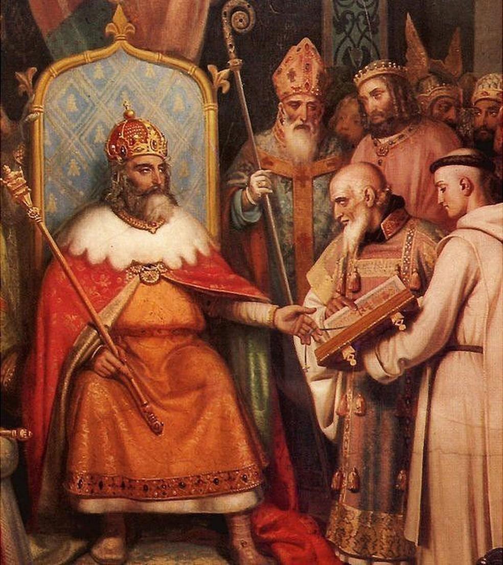 Alcuíno foi chamado para ser professor de Carlos Magno (Foto: BBC)