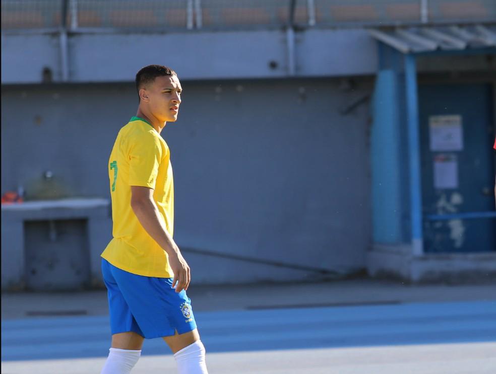 Antony foi convocado pela seleção brasileira olímpica — Foto: Foto: Fernando Torres / CBF