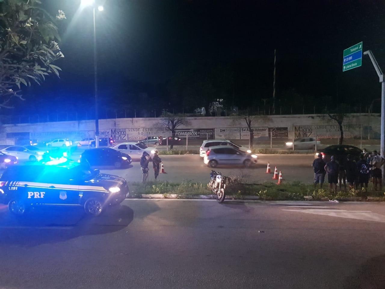 Mulher morre após ser atropelada por motociclista em trecho da BR-222, na Grande Fortaleza