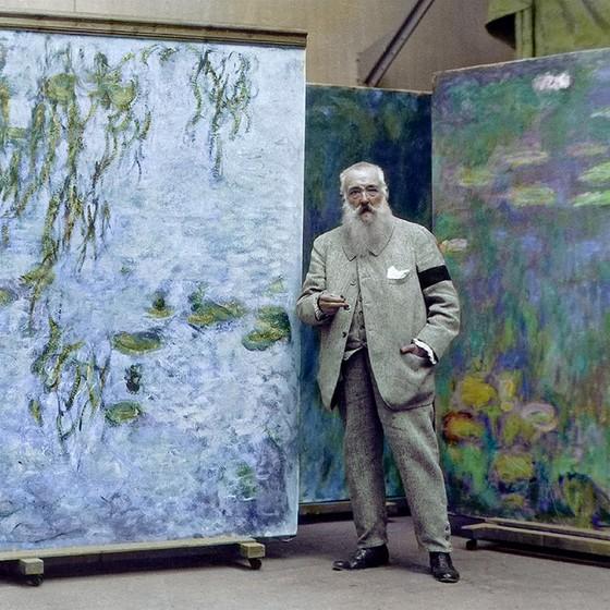 O pintor impressionista francês Claude Monet (Foto: COLORIZADAS POR MARINA AMARAL)