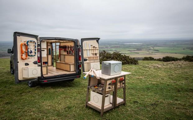 Conheça a van que é uma oficina ambulante (Foto: Reprodução)
