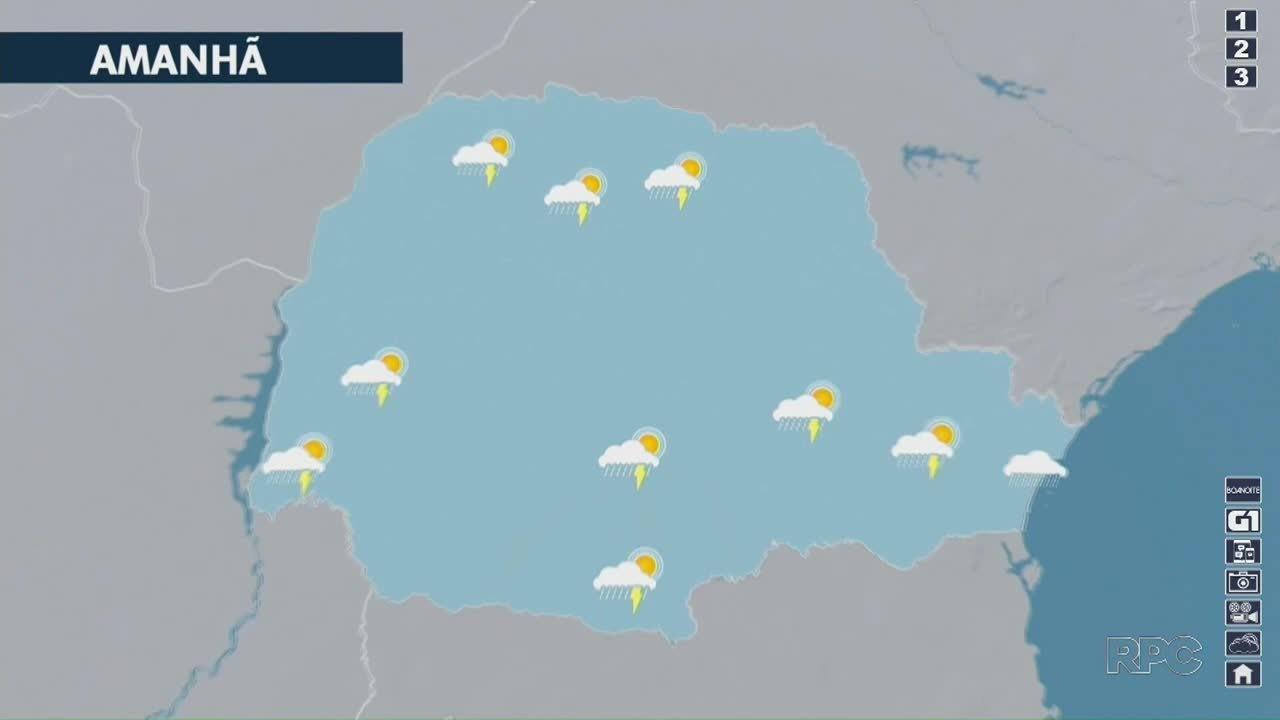 Fim de semana começa com chuva no Paraná
