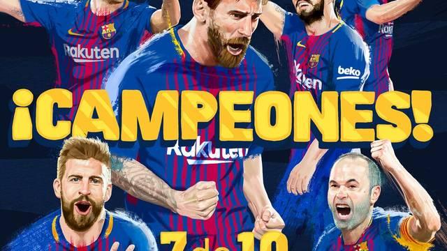 Barcelona campeão da Espanha