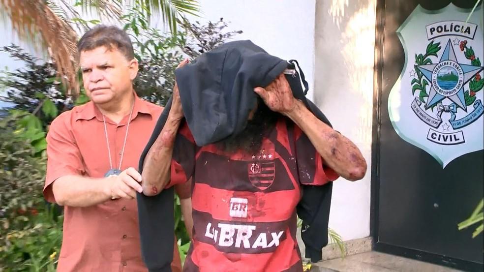 Suspeito de estuprar menino de 4 anos em Santa Martha, Vitória — Foto: Reprodução/TV Gazeta