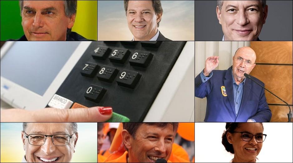 Os principais candidatos à Presidência (Foto: Reprodução)