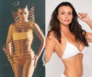 Andrea Mognon em 1989 e hoje em dia | Arquivo pessoal / Divulgação