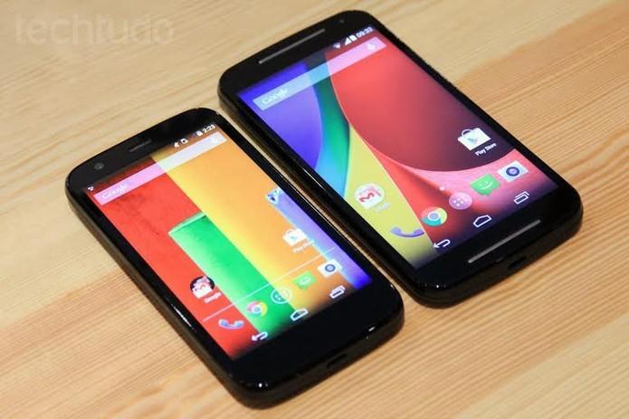 Moto G traz sistema bastante puro e na versão 4.4 KitKat do Android (Foto: Isadora Díaz/TechTudo)
