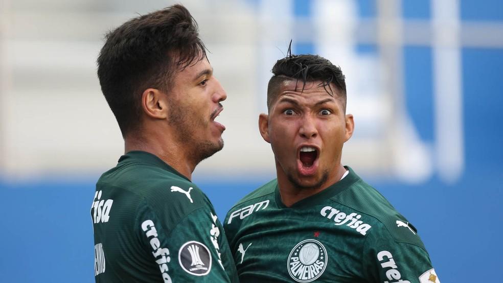 Rony tem quatro gols na Libertadores — Foto: Cesar Greco / Ag. Palmeiras
