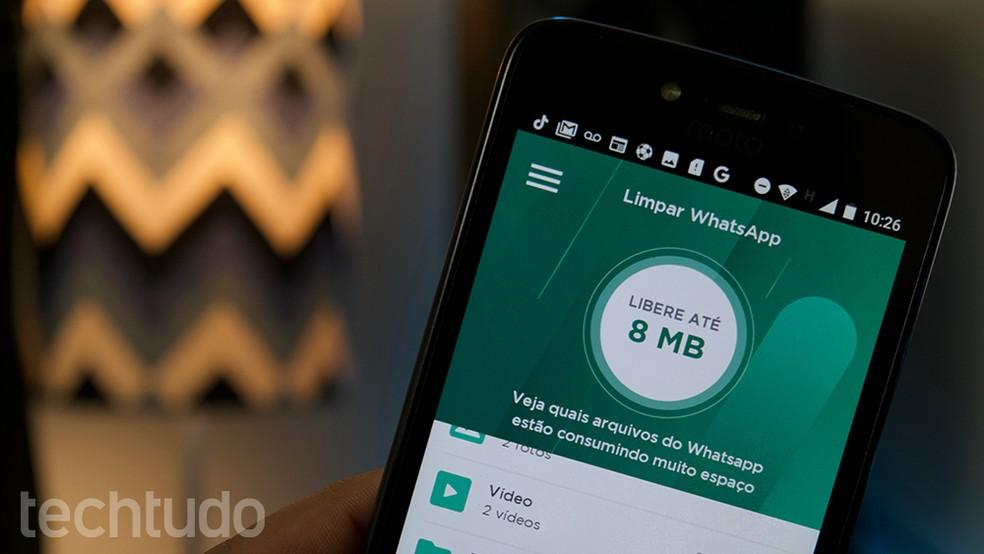 LimpaZap permite deletar arquivos e limpar conversas do WhatsApp no Android — Foto: Marvin Costa/TechTudo