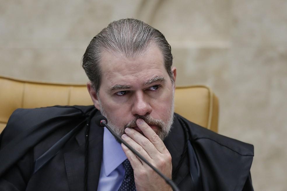 O presidente do Supremo Tribunal Federal (STF), Dias Toffoli, comanda sessão no plenário da Corte em setembro — Foto: DIDA SAMPAIO/ESTADÃO CONTEÚDO