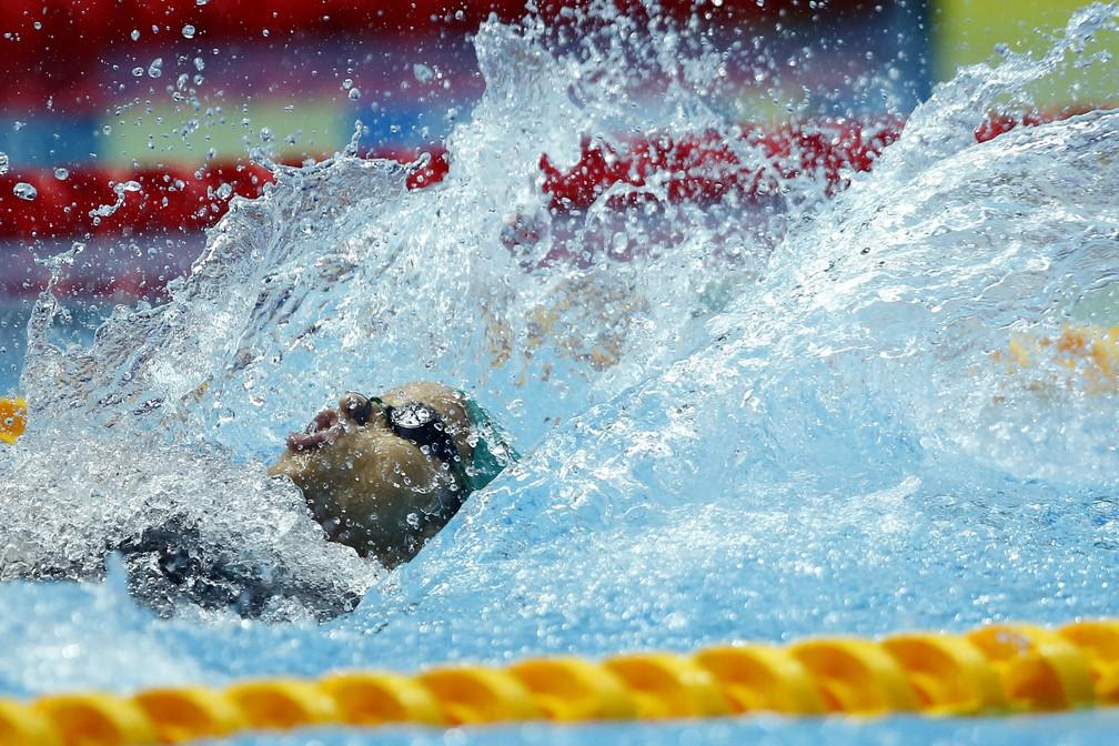 Etiene Medeiros ficou com a prata nos 50m costas no Mundial de Gwangju, na Coreia do Sul — Foto: Satiro Sodré/rededoesporte.gov.br