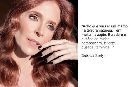 Deborah Evelyn interpretará uma estilista e se envolverá com um modelo Reprodução