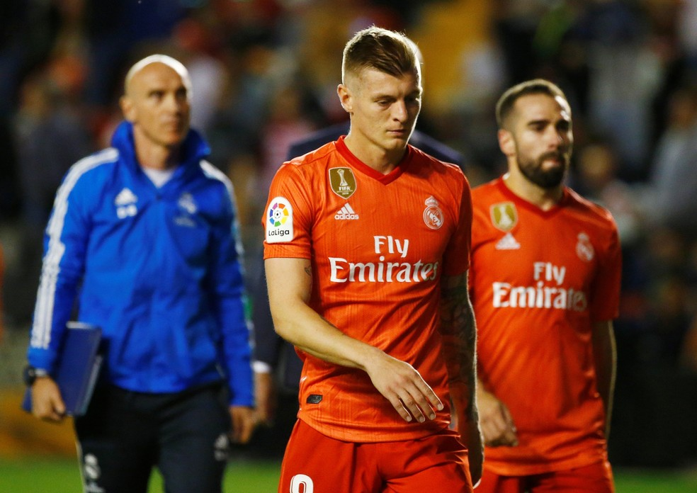 Toni Kroos, do Real Madrid, estaria na mira do PSG — Foto: REUTERS/Javier Barbancho