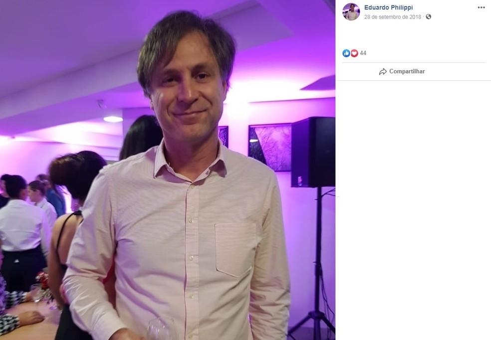 O médico cardiologista Eduardo Philippi é uma das vítimas do acidente. — Foto: Reprodução/Facebook