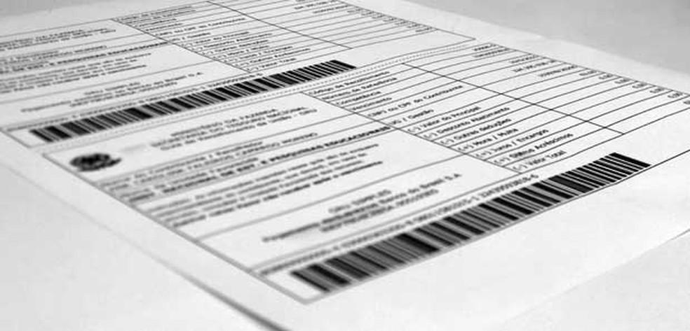 Boleto para pagamento da taxa do Enem precisa ser quitado até 10 de junho. (Foto: G1 )