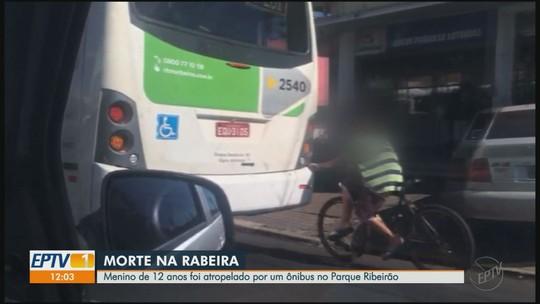 Menino pegava 'rabeira' em ônibus ao ser atropelado e morto em Ribeirão Preto, dizem vizinhos