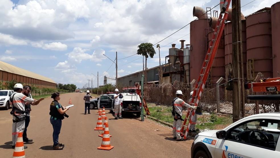 O dono da empresa deve responder por furto de energia qualificado — Foto: Energisa/Divulgação