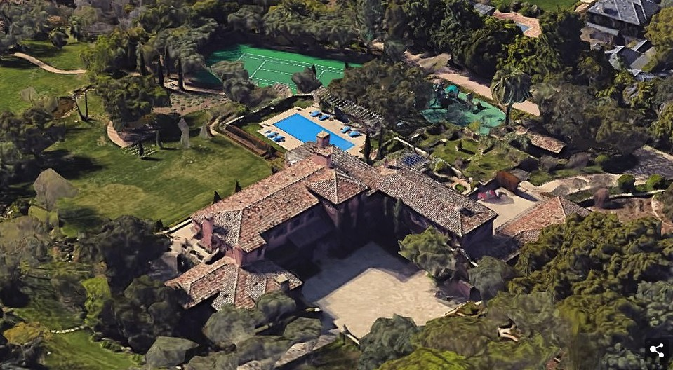 Casa de Meghan Markle e Príncipe Harry (Foto: Sothebys e Google Maps/Divulgação)