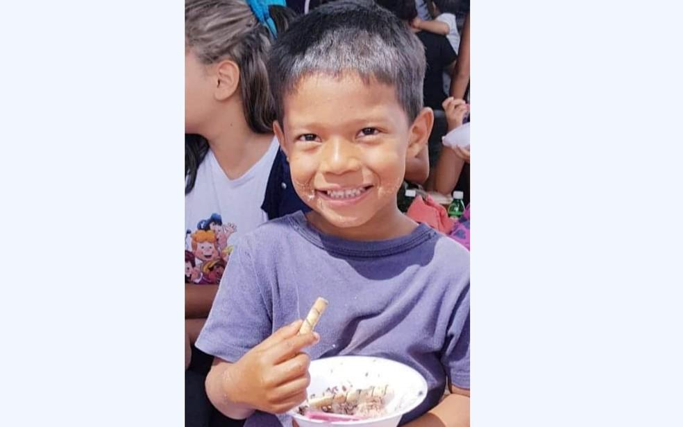 Danilo Sousa Silva, de 7 anos, desaparecido em Goiânia, Goiás — Foto: Reprodução/TV Anhanguera